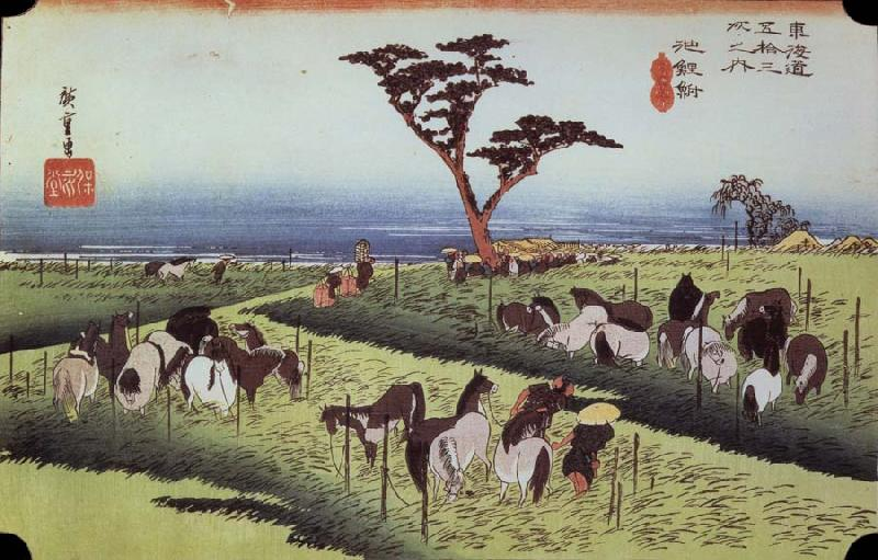 unknow artist Chiriu out of the series the 53 stations of the Tokaido